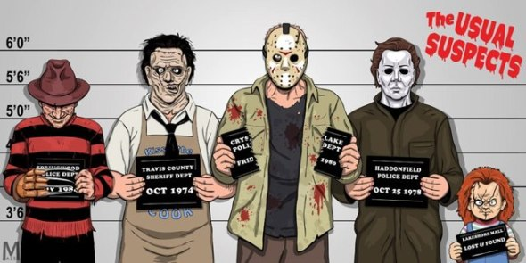 The Usual Suspects_Freddy_Leatherface_Jason_Michael Myers_Chucky