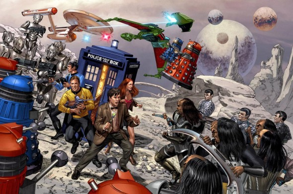 Star_Trek_vs_Dr Who_by_mike mayhew_Full Colour