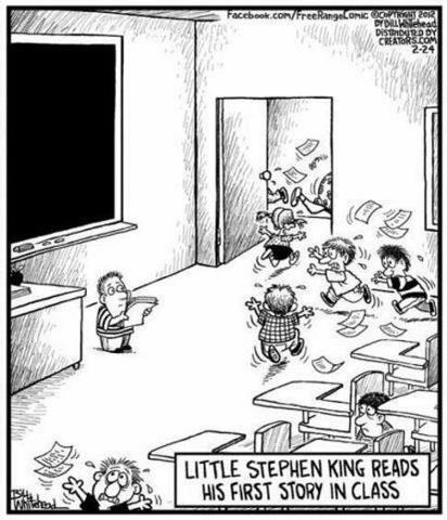 Stephen King at School