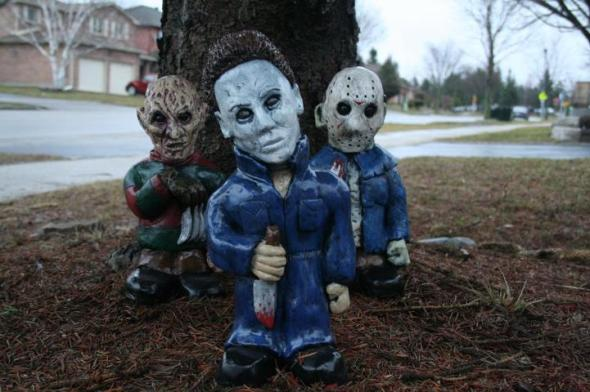 Freddy Kreuger_Michael Myers_Jason Voorhees_Garden Gnomes