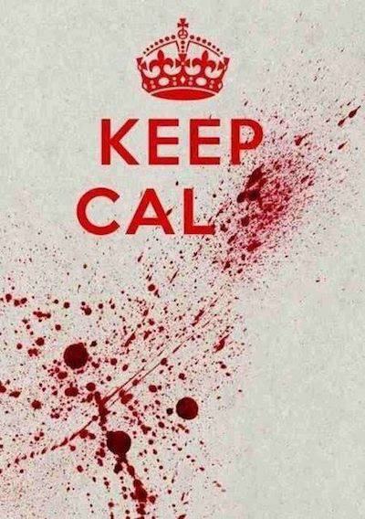 Keep Calm_Blood Splatter