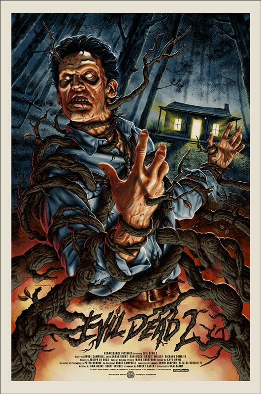 Evil Dead 2 u2013 Poster Art by Jason Edmiston : socialpsychol