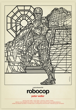 Robocop_Stained-Glass-Art_Line