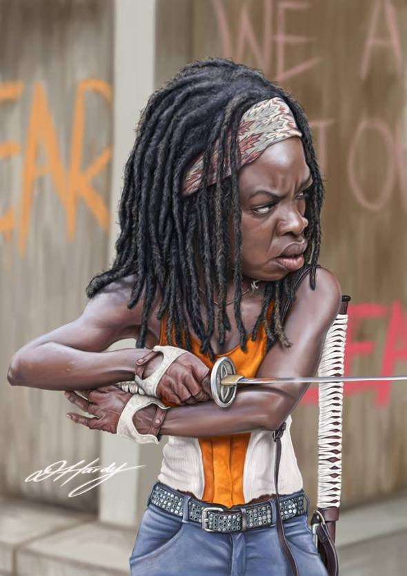 Michonne_Walking-Dead_David-Hardy